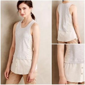 Anthropologie Moth Lace Montage Tank Size X-Small
